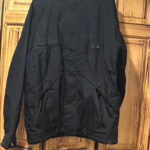 burton black coat
